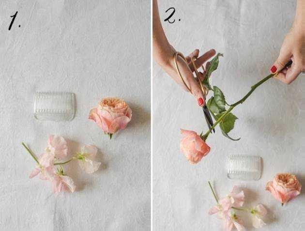 Как сделать заколки из живых цветов