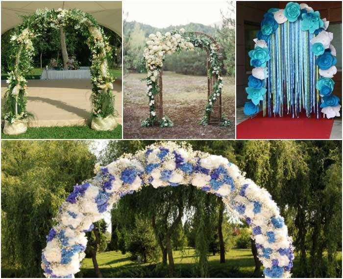 Свадебная арка своими руками видео