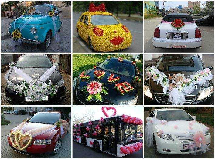 Как украсить своими руками свадебное авто 9