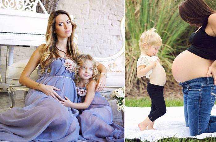 Фотосессия беременных с мужем и ребенком на природе идеи