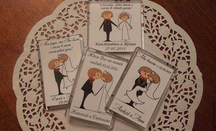 Смешные подарки гостям на свадьбу