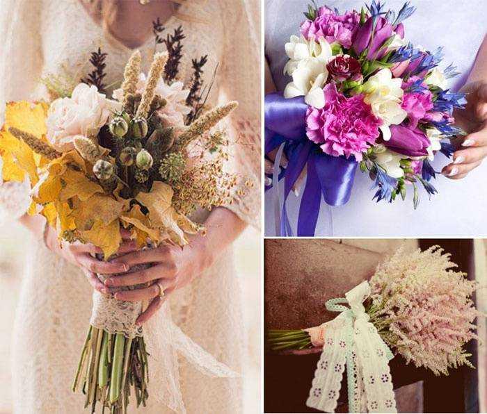 Весільний букет з польових квітів - поєднання з нарядом 51b5b4d4c2699