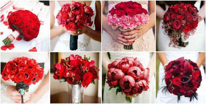 9420b1a32f5546 Весільний букет з червоних троянд - варіанти поєднання з іншими кольорами,  фото