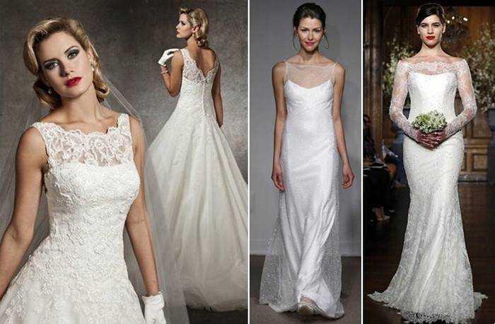 У сезоні 2015 модні будинки нареченим запропонують витончені і жіночні  моделі весільних нарядів з гіпюру 33400934929bb