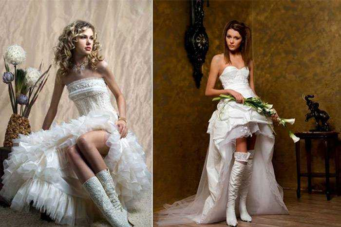 Білі чоботи на весілля - ботильйони 8538bb2ecdc8b