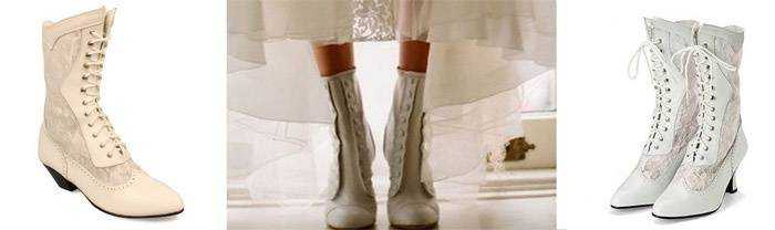 Білі чоботи на весілля - ботильйони 8dd69063e37b8