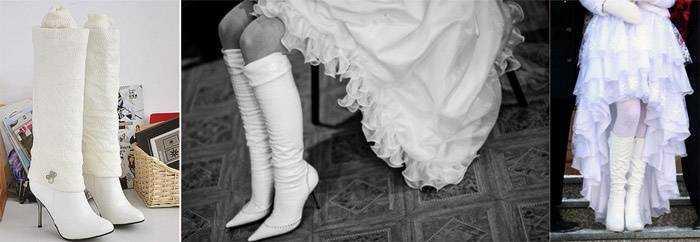 Фото-підбірка білих зимових чобіт на весілля 50e7c9529981d