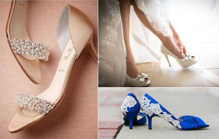 ddde68a653bf94 Весільні босоніжки - як вибрати колір, обробку і висоти каблука, фото