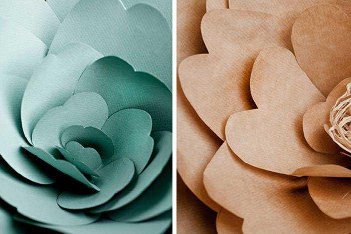 Квіти на весілля з паперу - ідеї оформлення 8dd5f50ee5a14