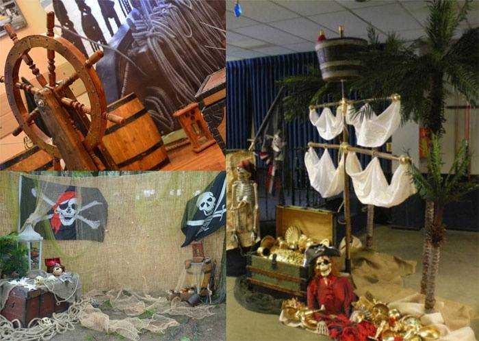 Пиратская вечеринка украшение зала своими руками 30